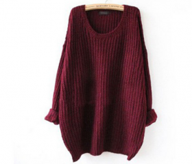 Casual round neck long-sleeved knit sweater CGF91905FE