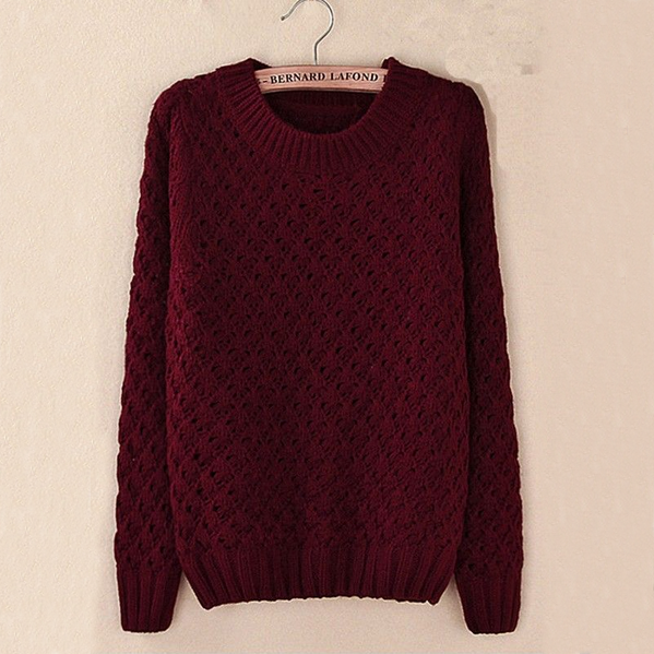 Hook Flower Stitching Hollow Sweater