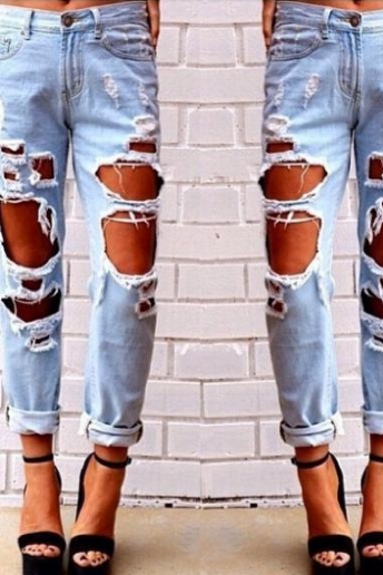 FASHION DESIGN HOLE JEANS
